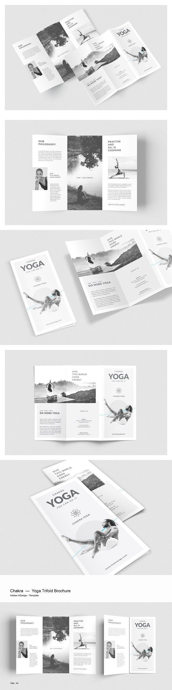 yoga trifold brochure yoga design pinterest brochure design