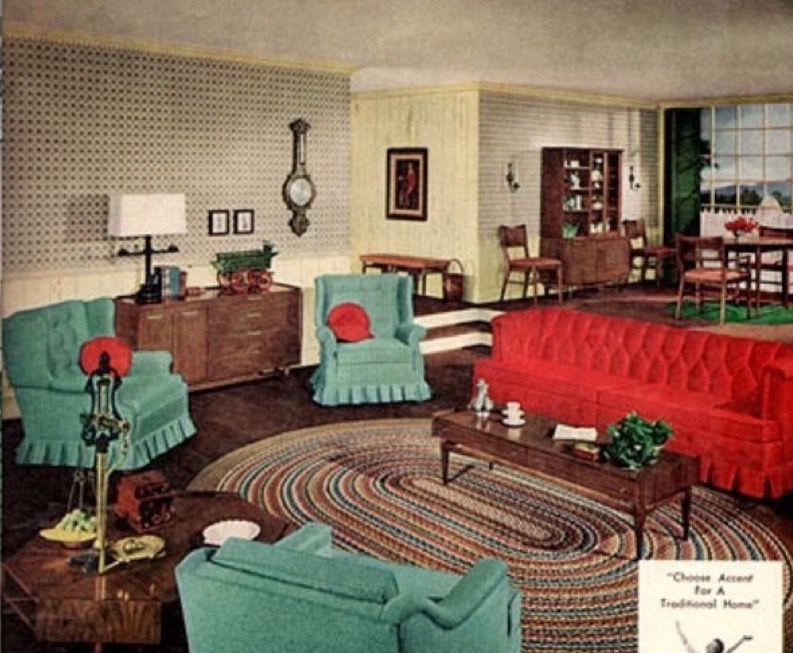 Pin By Linda Millis On 1950s Furniture Vintage Interior Retro Interior Design Retro Room