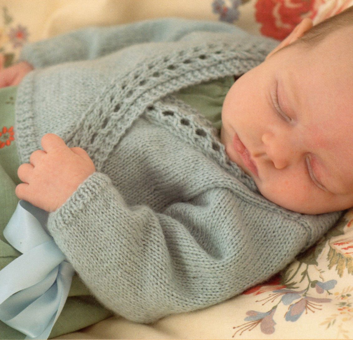 Knitting Pattern for Baby Wrap Over Cardigan - #ad Lace edged sweater to fit ...