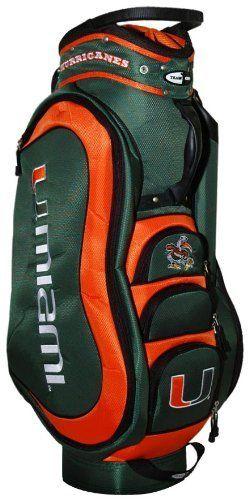Ncaa Miami Hurricanes Medalist Cart Bag By Team Golf 149 99 Removable Rain Hood And Umbrella Holder Towel Ring External Putter Well 3 Lift