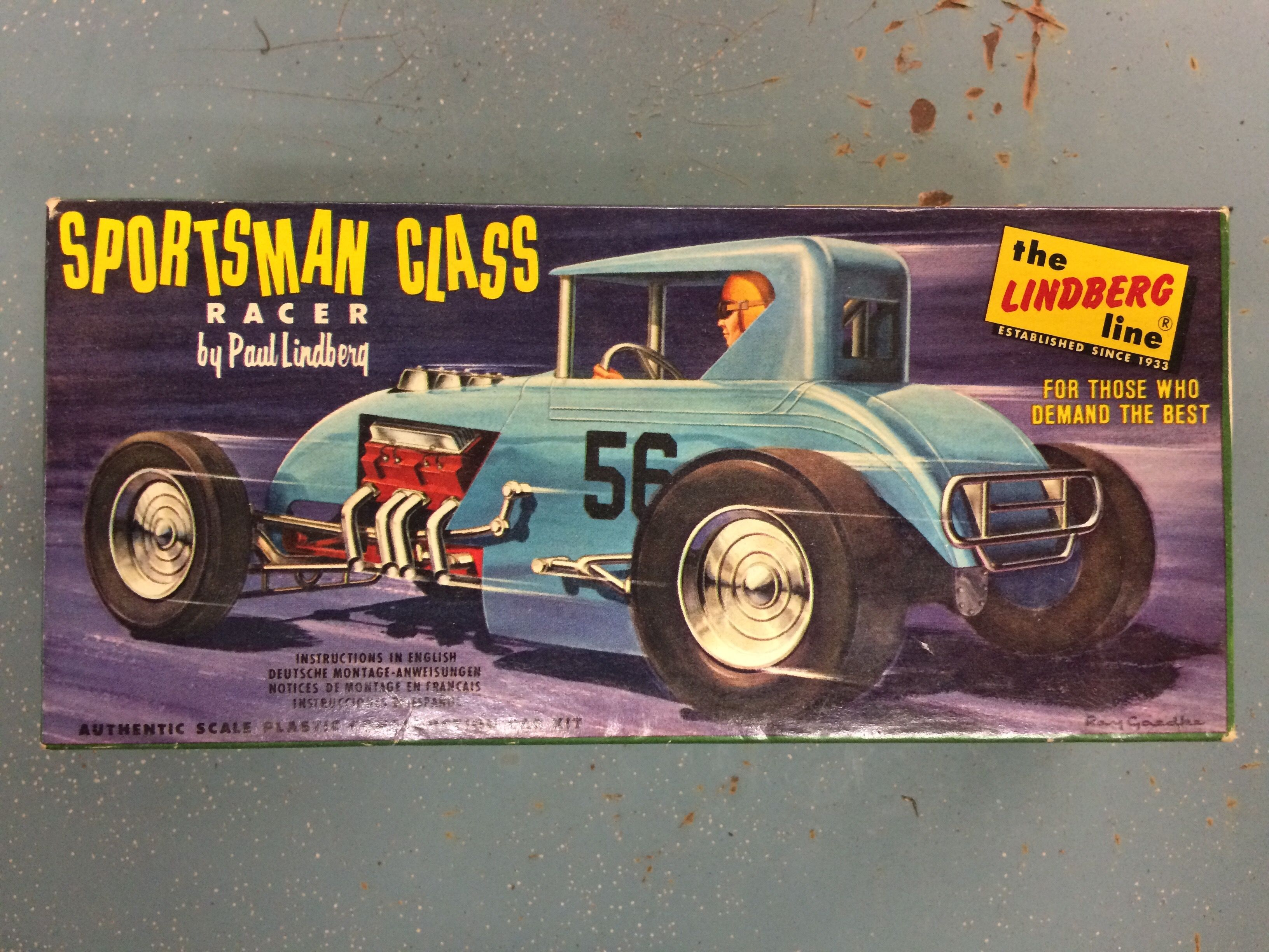 Dirt track modified model car | Model kits-box art | Vintage cars