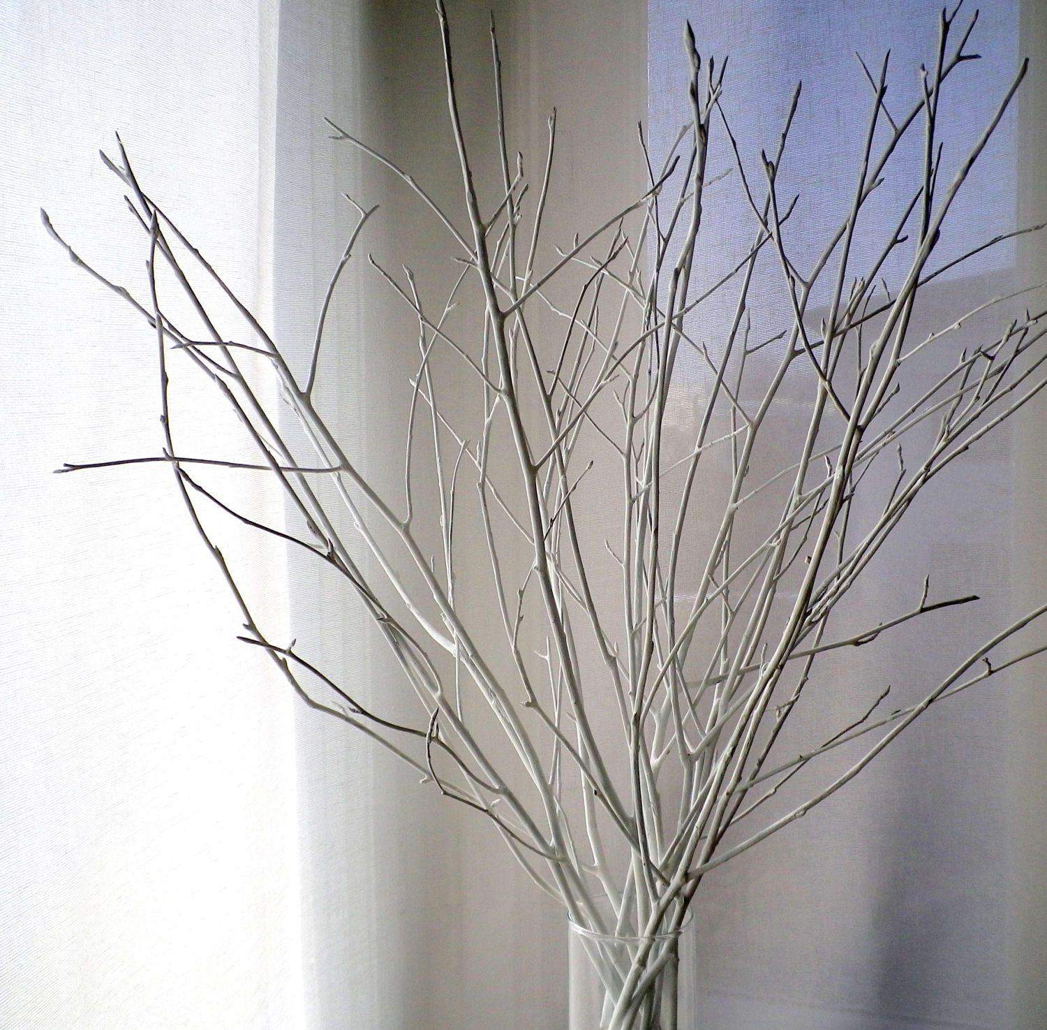 White Birch Twigs Set Of 12 Hand Painted Birch Branches Etsy