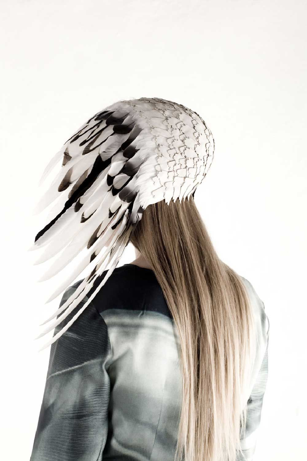 Anna Lewis anna lewis. head piece: darkness, 2012. feathers, leather