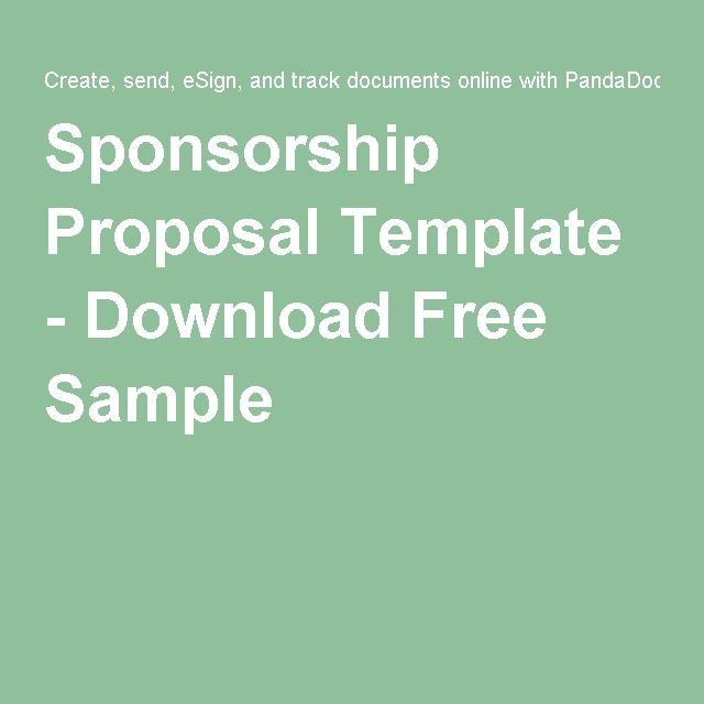 Sponsorship Proposal Template Download Free Sample Sponsorship Proposal Proposal Templates Event Proposal Template