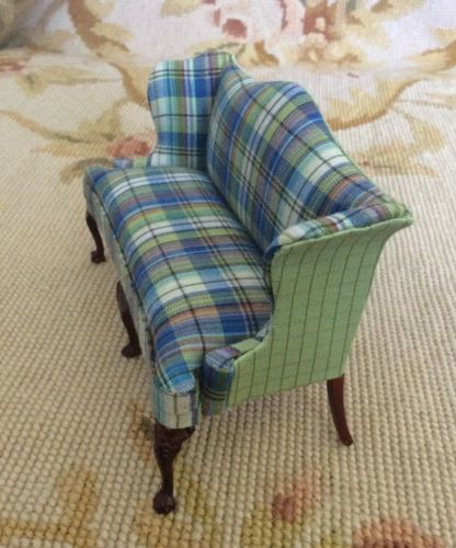 Sofa Seat Couch Settee Lounge 1:12 Dollhouse Miniature