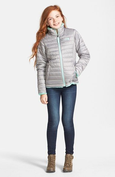 de2e0169f0 The North Face  Mossbud Swirl  Reversible Water Resistant Jacket (Big Girls)  available at  Nordstrom