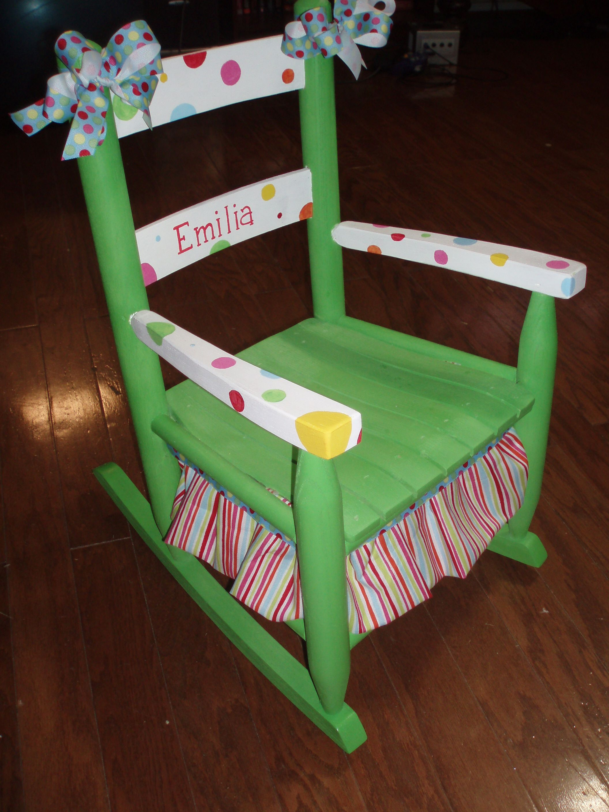 Amazing photo of Child Rocking Chair can paint however you want! awesome! Kids  with #30180F color and 2112x2816 pixels