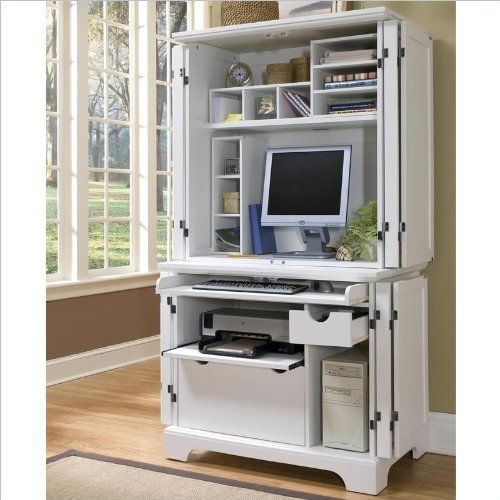 Topdesignidea Interesting Compact Computer Desk With Hutch ...