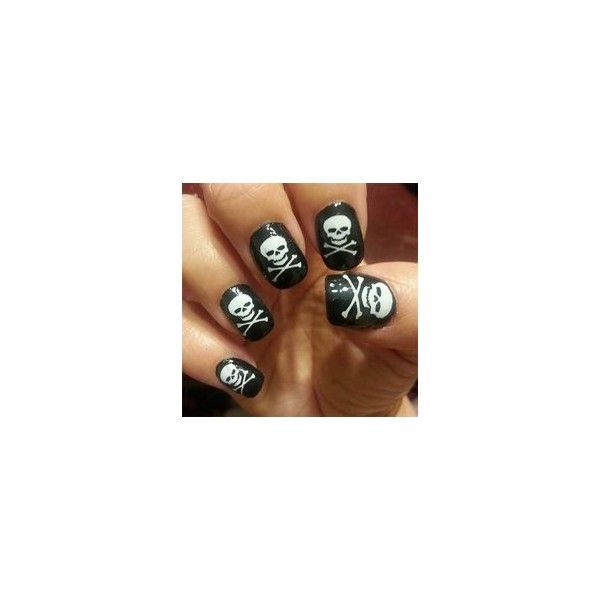 Gothic Nail Art ❤ liked on Polyvore featuring nail