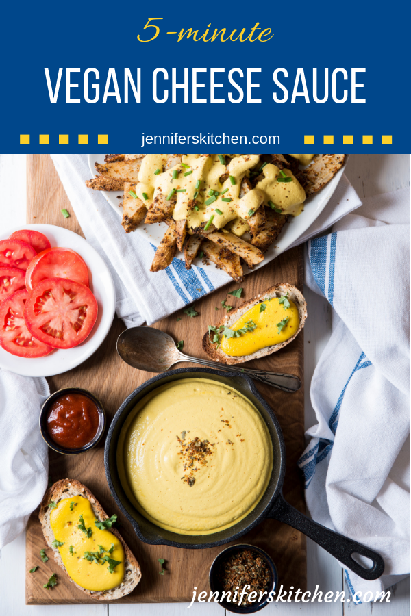 5 Minute Vegan Cheese Sauce Jenniferskitchen No Nutritional Yeast In 2020 Vegan Cheese Recipes Vegan Cheese Sauce Vegan Cashew Cheese