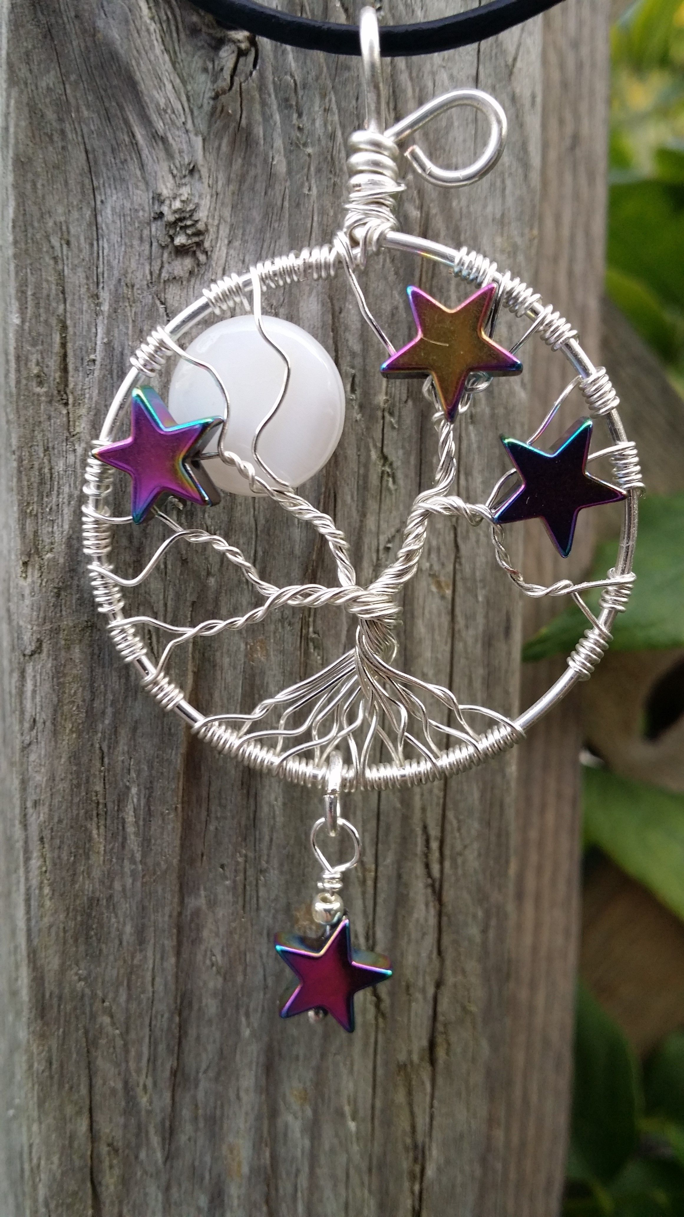 Moon and Stars Tree of Life by Pinky Lane Designs www.facebook.com/PinkyLaneDesigns