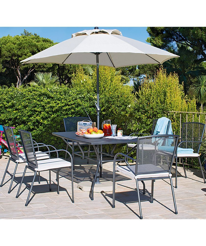£255 buy miami 6 seater mesh patio furniture set at argos co uk your online shop for garden table and chair sets