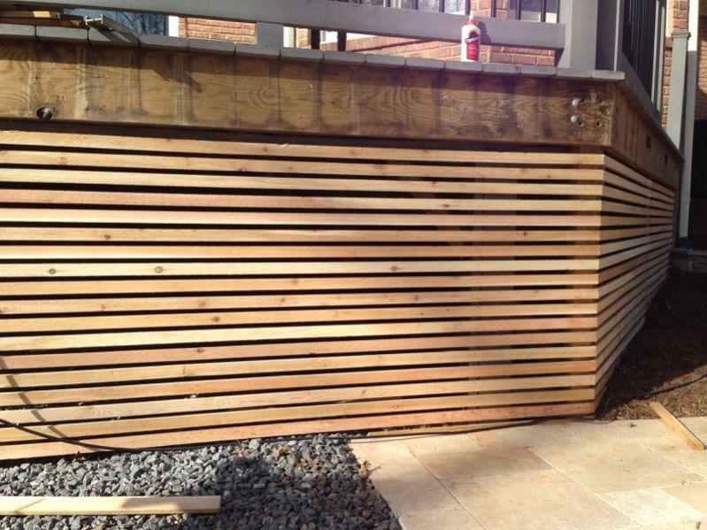 modern deck lattice Modern deck, Deck skirting, Deck