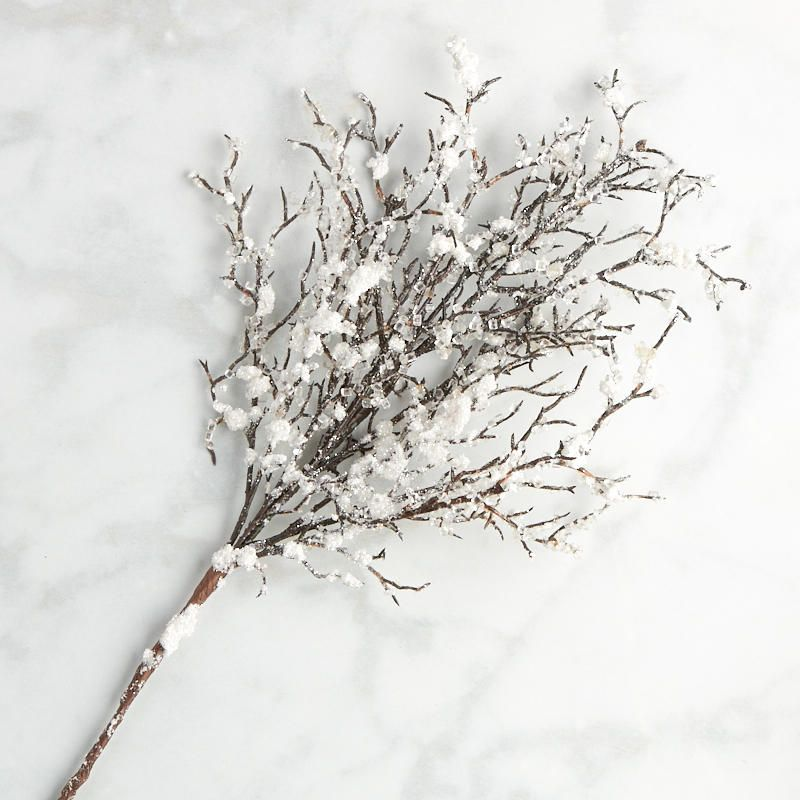 Artificial Christmas Tree Spray: Icy Glitter Winter Artificial Branch Spray