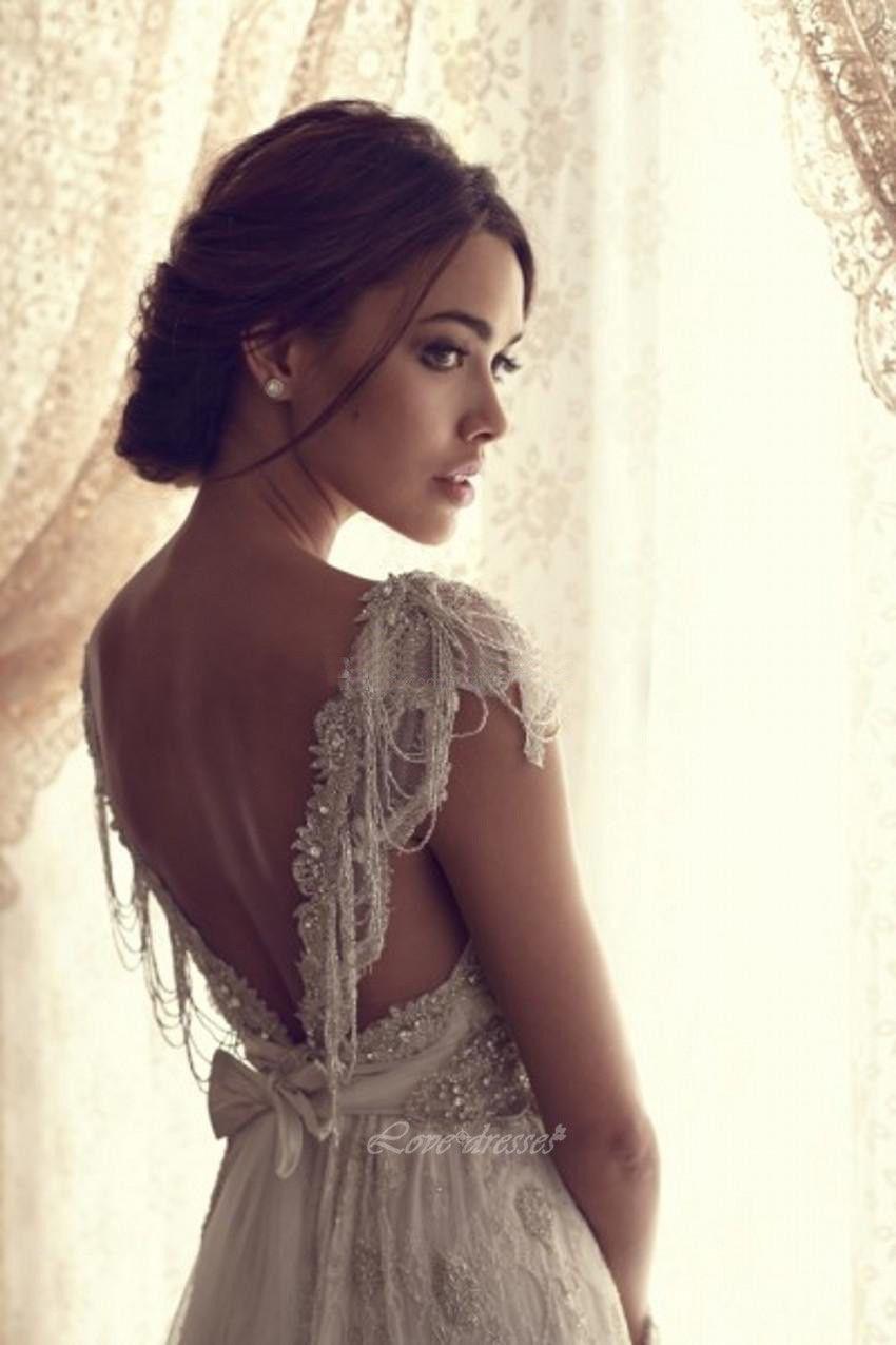 Cream colored vintage wedding dresses   Bohemian Lace Wedding Dress pwd  Wedding designs