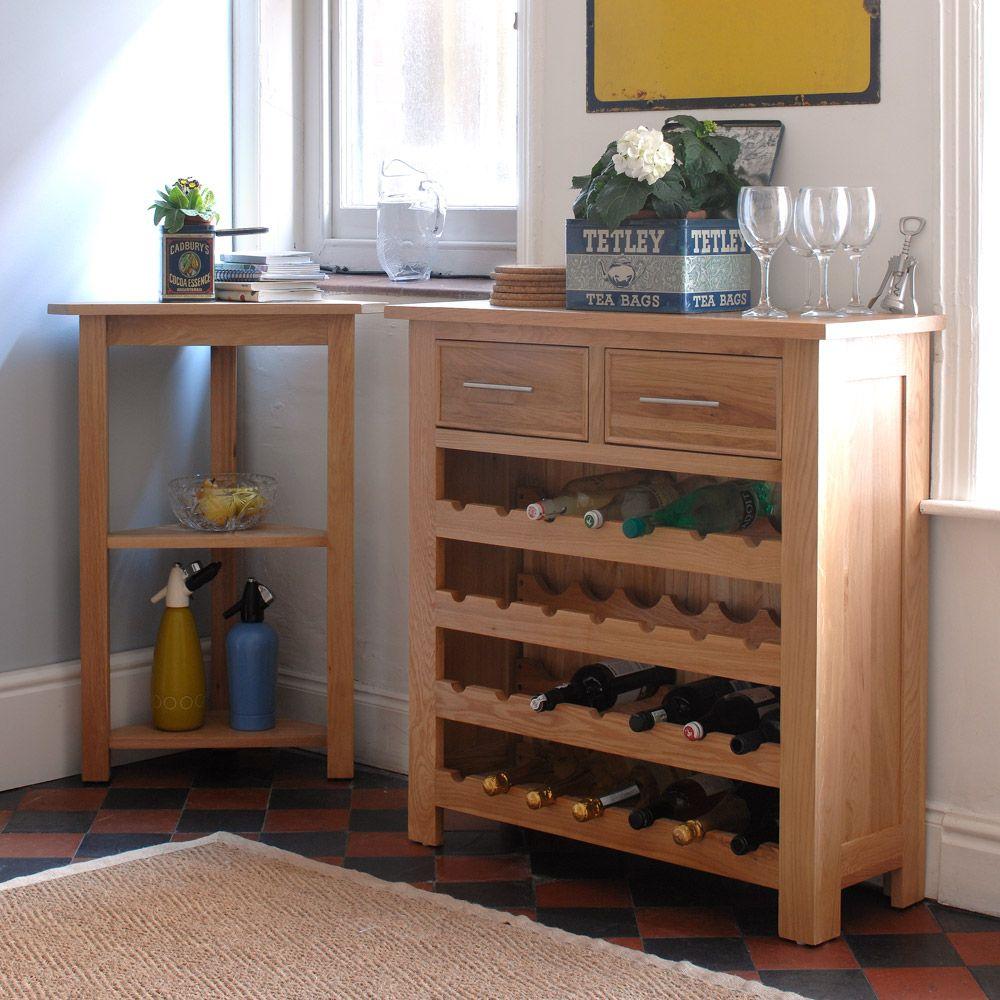 Oak Wine Cabinet Kitchen English Flowers Tiled Floor