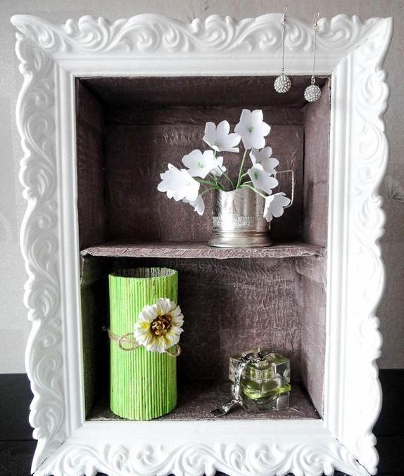 Cardboard wall shelf with ornamented frame OOOH! what if I made a ...