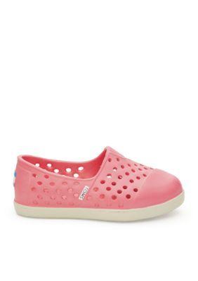 46c1ceb4489 TOMS Pink Romper Slip On Sandals - Girls Toddler Sizes