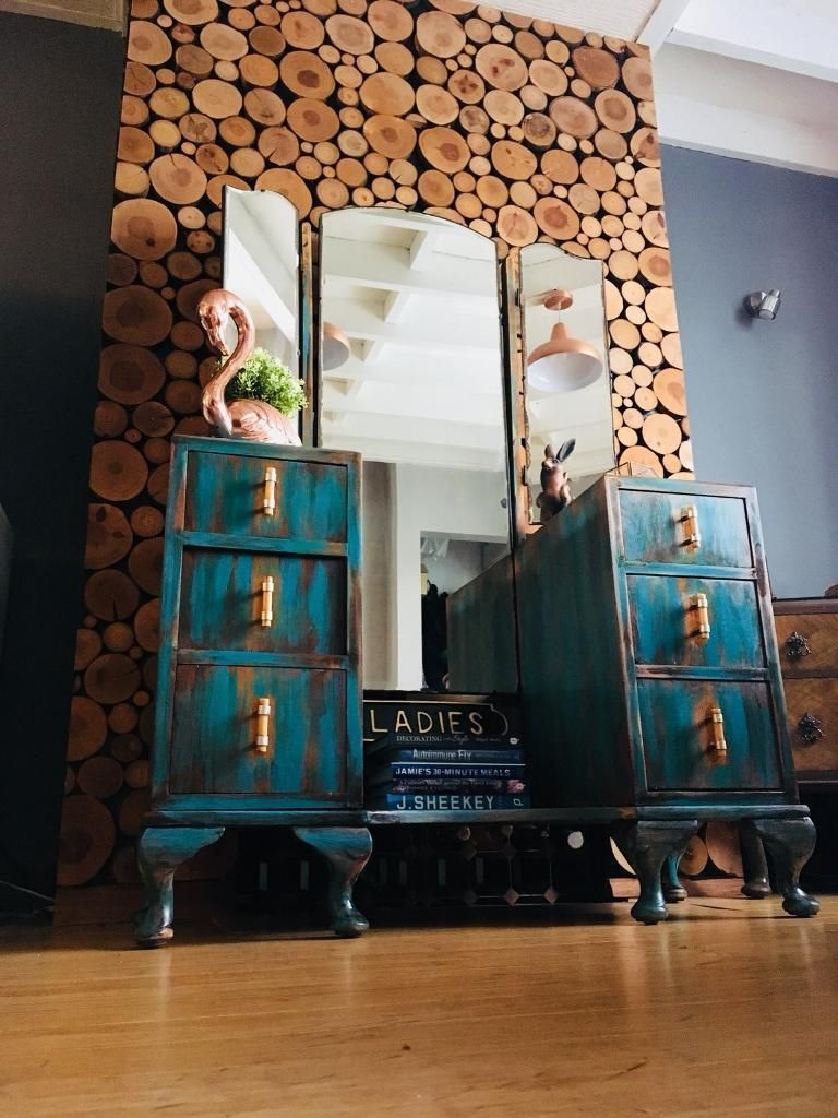 Stunning 1920 S Vintage Dresser In Teal This Unique Vintage Dresser Will Be A Focal Point To Any Be With Images