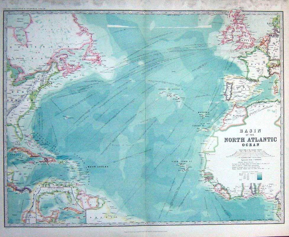 north atlantic ocean map google search