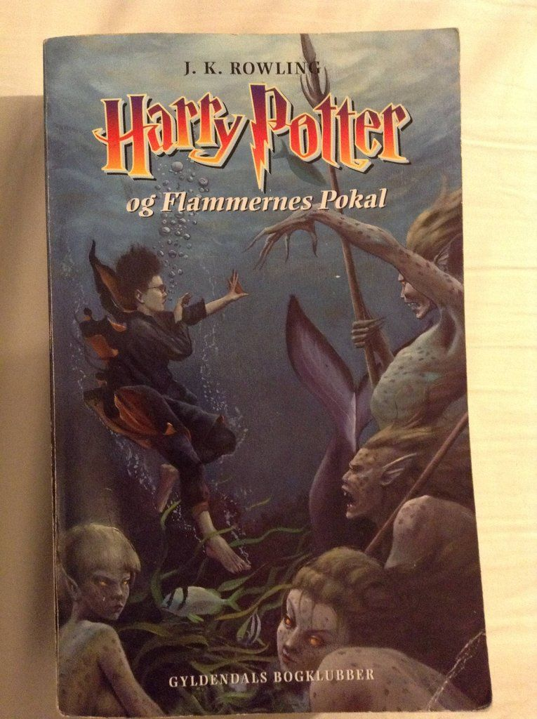 Danish Harry Potter And The Goblet Of Fire Book Cover Goblet Of Fire Book Fire Book Harry Potter