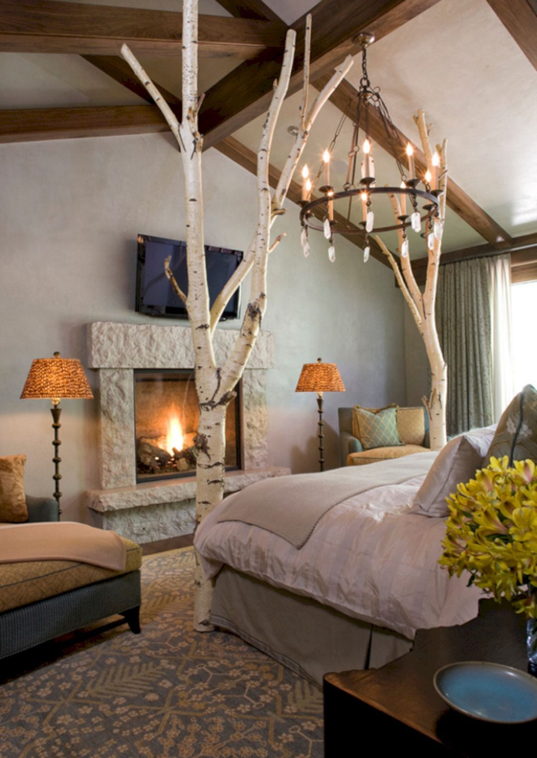 Cozy romantic bedroom - 50 Incredible Cozy And Romantic Bedroom Fireplaces For Your Home