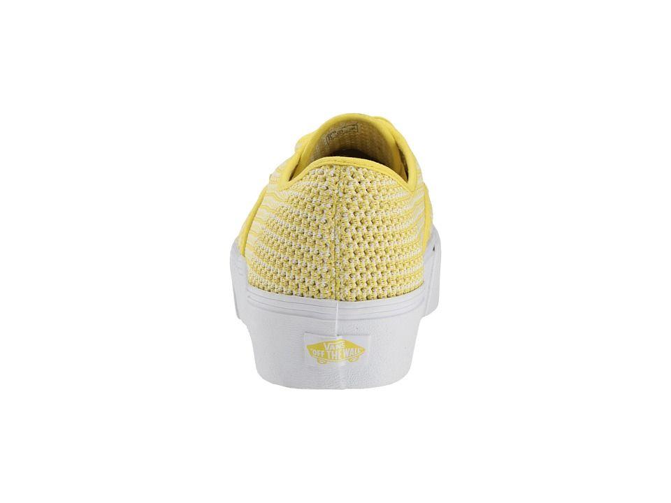 b0f87f09cf8d Vans Authentic Platform 2.0 Skate Shoes (Summer Mesh) Green Sheen True White