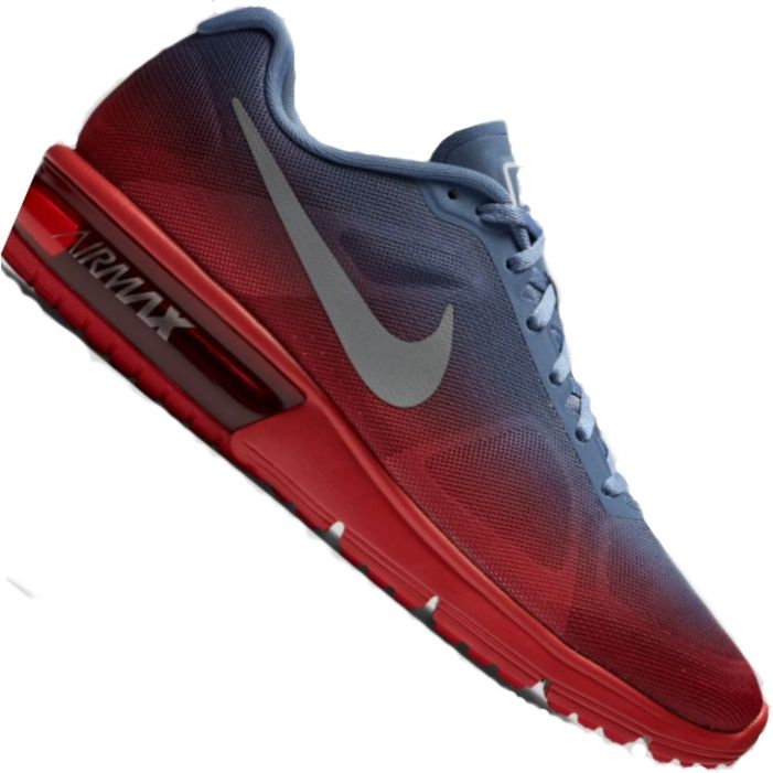 94f906cc626 Tênis Nike Air Max Sequent Masculino Azul   Vermelho Mais