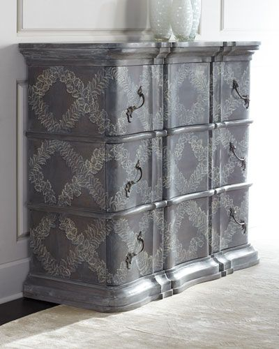 We Could Stencil The Chest Of Drawers Guest Room Painted