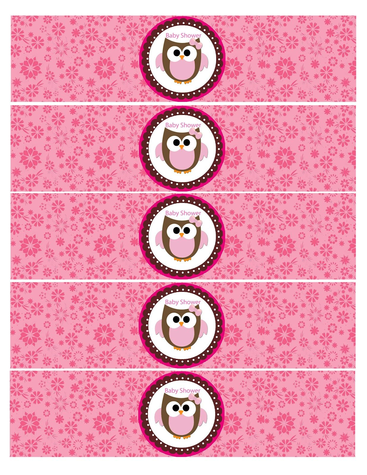 Mis 2 Manos: Made By My Hands: Water Bottle Labels Baby Owl Baby Shower  Free Baby Shower Label Templates