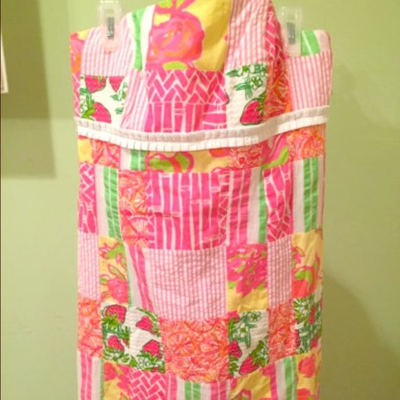 Pink Patchwork Lilly Pulitzer Dress New. Versatile and oh so adorable! Lilly Pulitzer Dresses