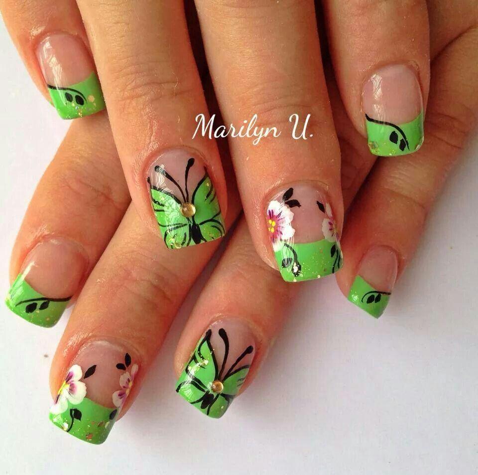 Mariposas u as pinterest mariposas y dise os de u as - Disenos de unas con mariposas faciles ...