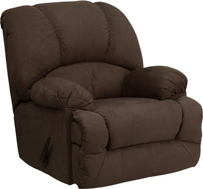 Glacier Brown Microfiber Chaise Rocker Recliner With Images Flash Furniture Rocker Recliners Furniture