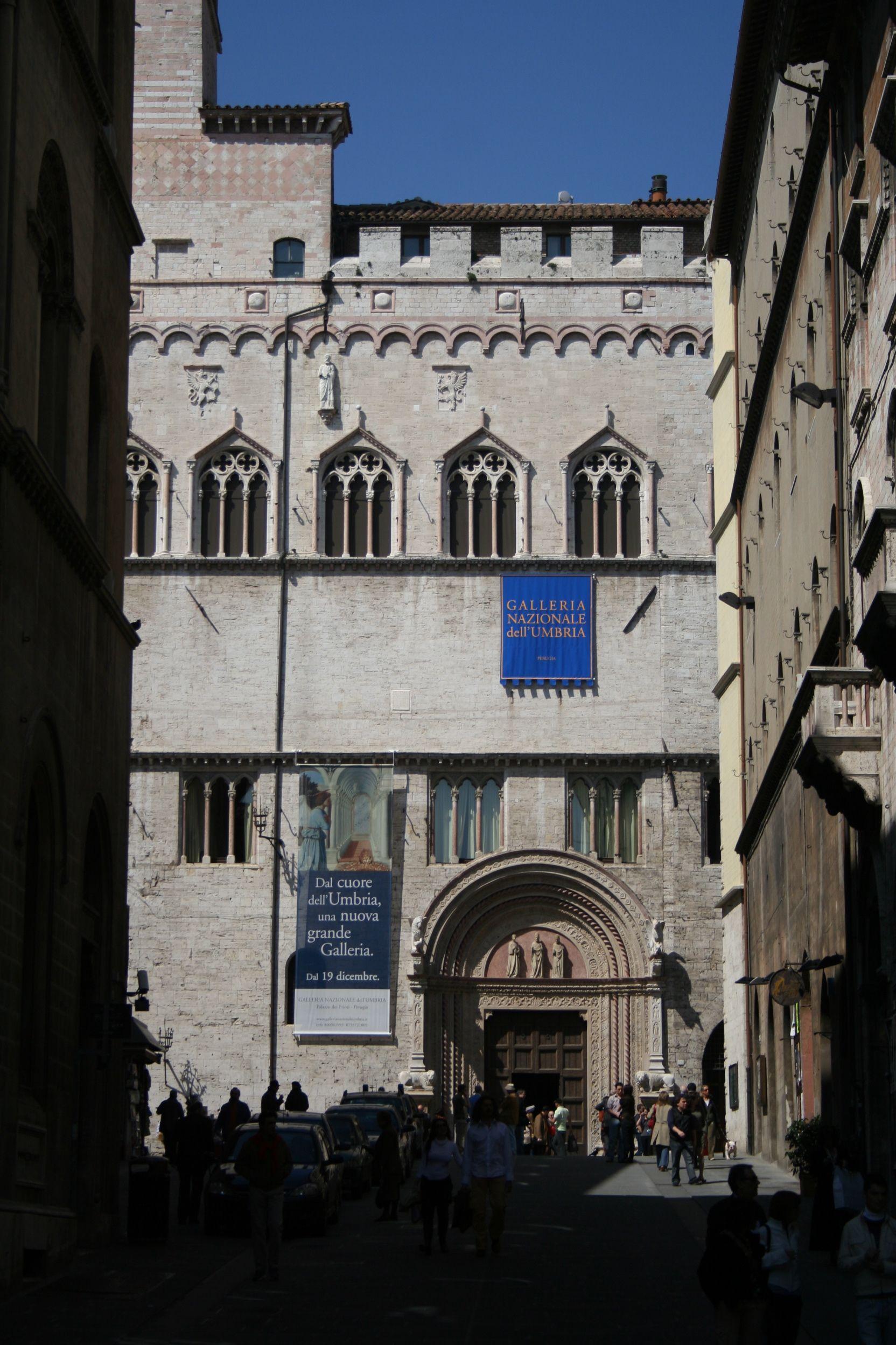 Perugia, the Palazzo dei Priori (Town Hall, encompassing the Collegio del Cambio, Collegio della Mercanzia, and Galleria Nazionale), one of Italy's greatest buildings.