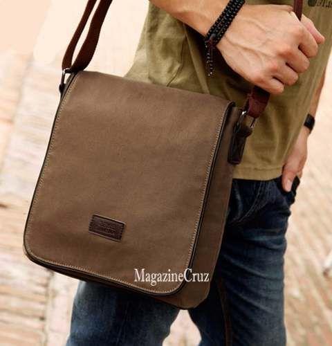 5c7968e438 bolsa tiracolo masculina lona de algodão - a pronta entrega