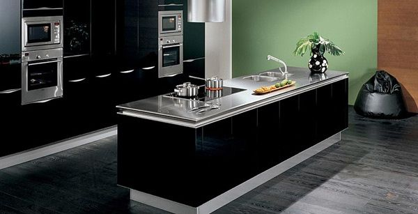 Cucina laccato lucido nero grafite Idea, Snaidero | Home Decor ...