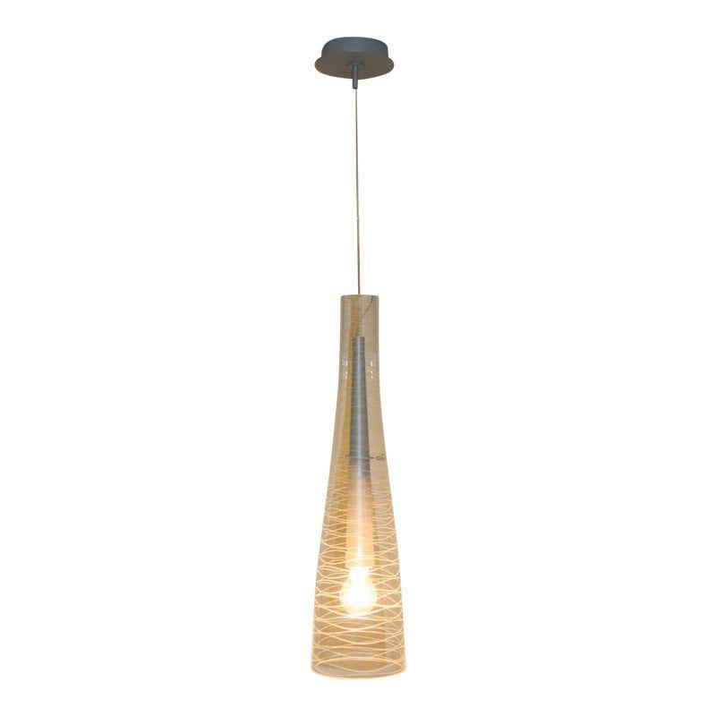 Italian Mid-Century Modern Blown Glass Pendant Lamp