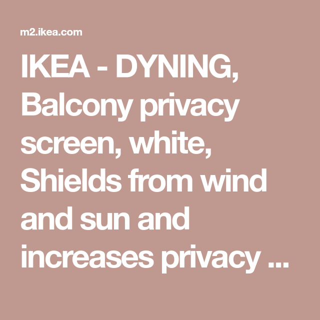 DYNING Balcony privacy screen - white - IKEA