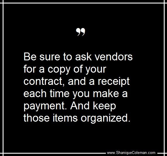 How To Make A Receipt For Payment Wedding Tip Be Sure To Ask Wedding Vendor For A Copy Of Your .