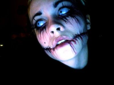 Photoshop - Nikki Frampton Crazy Face Paintings Pinterest - halloween face paint ideas scary