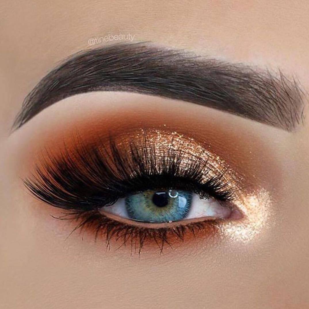 Gold eyeshadow - Perfect Golden Eyeshadow Ideas for Glam Makeup Looks #eyemakeup #eyeshadow #glittereyes #glammakeup