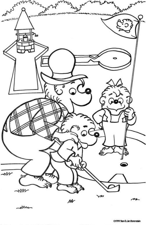 Mini Golf Berenstain Bears Coloring Page With Images Bear