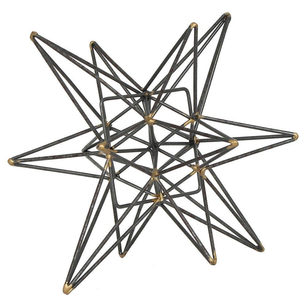 Star Figurine Metal Tabletop Décor In Steel (Silver) Finish - Grey ...