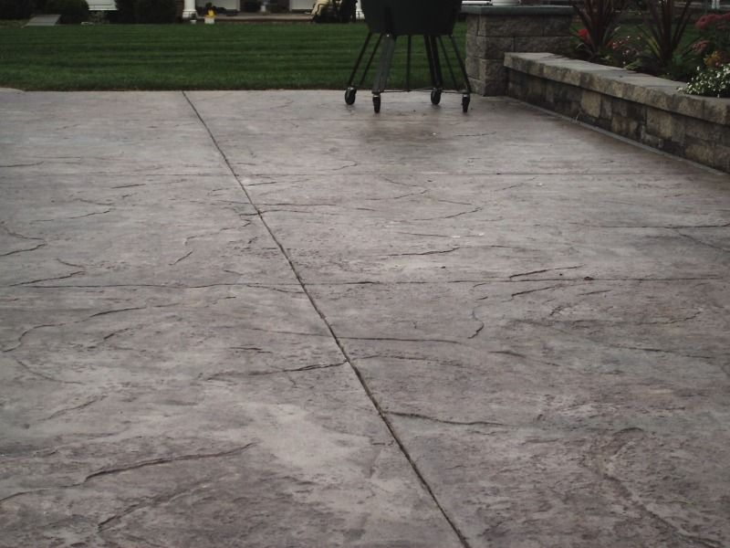 Stamped Concrete And Expansion Joints Concrete Backyard Stamped Concrete Concrete Patio