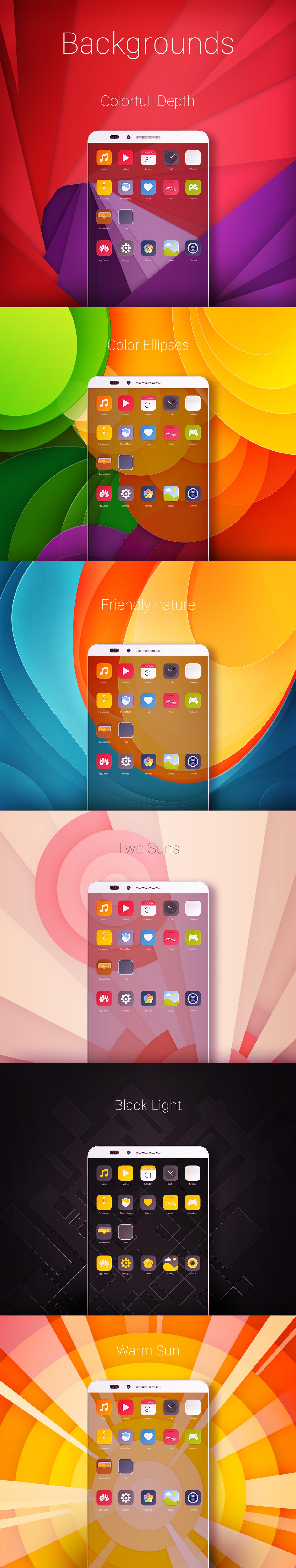 Huawei Theme on Behance Website banner design