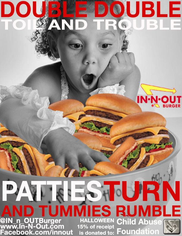 This is my favorite. She's adorable. In-N-Out campaign project. Print advertisements I made.