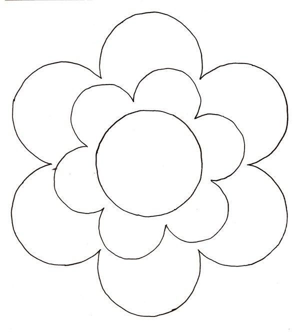 Gabarit guirlande photos fleurs fleurs printemps - Fleurs a dessiner modele ...