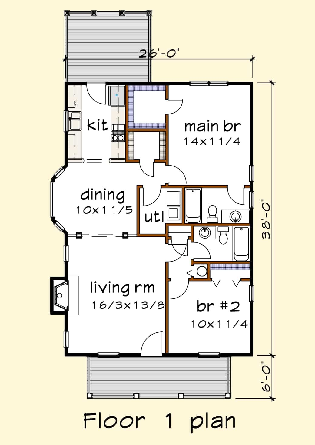 Floorplan Image For Plan Home Design Plans House Plans Cottage Style House Plans