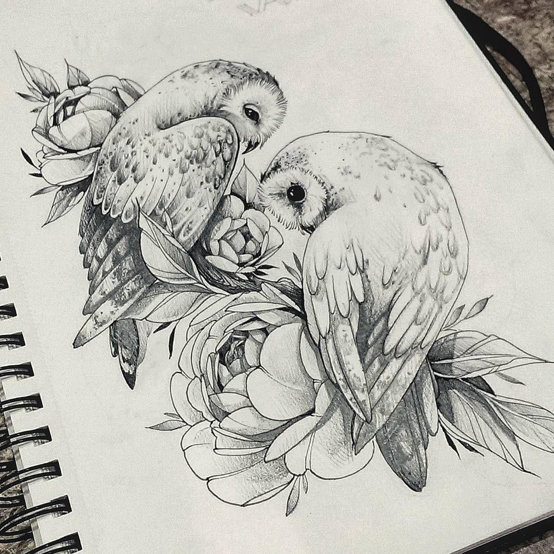 Owl drawing, owl illustration #boyfriendtattoos