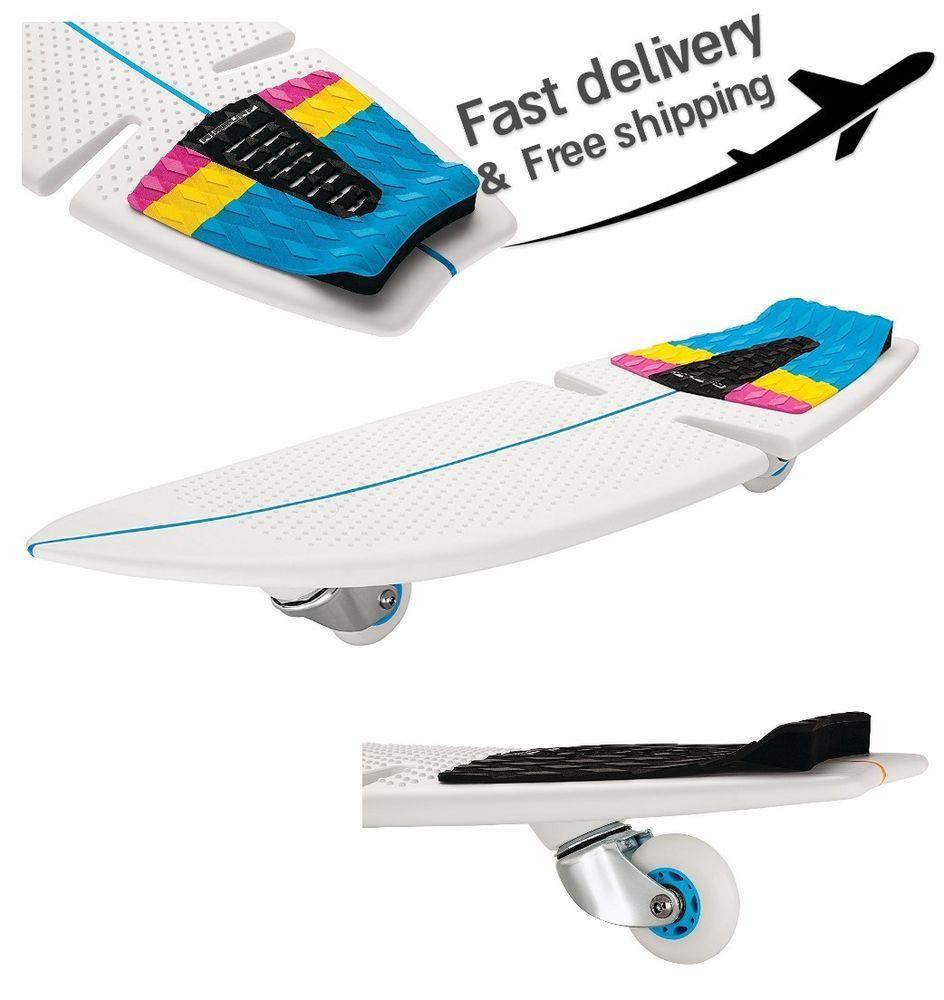 Razor Rip Surf Patented Caster Board Ripstick Water Sport Skateboard White Razor Skateboard Ripstick Skateboard Caster Board